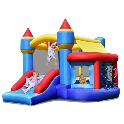 Costway InflatableBounce House Castle Slide Bouncer Kids Shooting Net