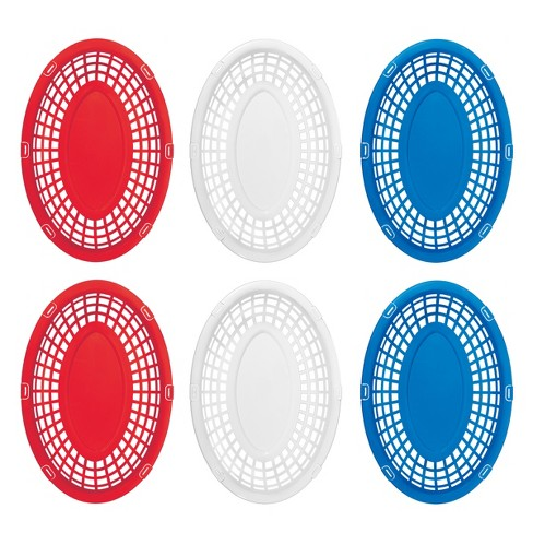 Serving Baskets - Red/White/Blue - Evergreen - image 1 of 1