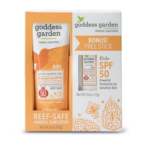 Goddess Garden Kids Sunscreen Tube & Stick Combo Pack - SPF 50 - 6oz - image 1 of 5
