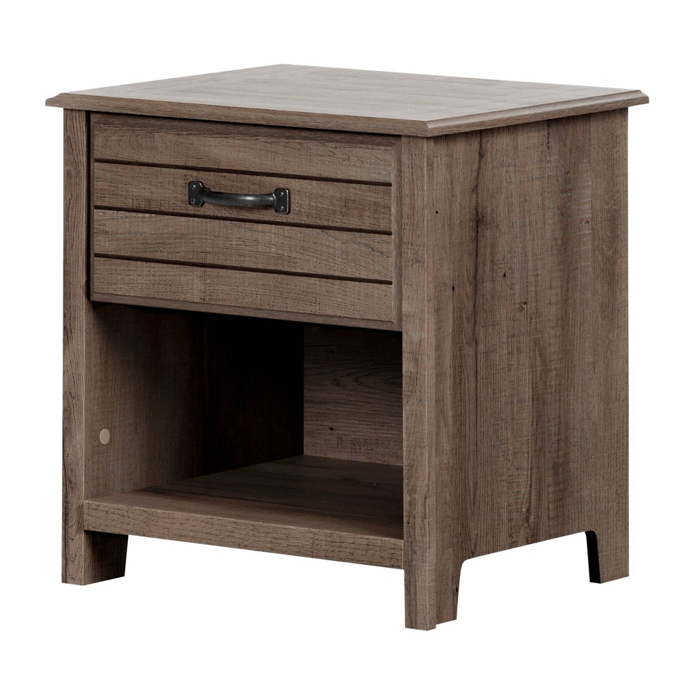 Image of Asten 1 Drawer Nightstand Fall Oak - South Shore, Fall Brown