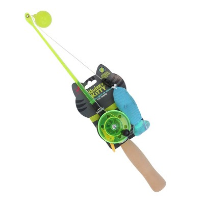 Quirky Kitty Go Fish Light Up Wand Cat Toy - Blue