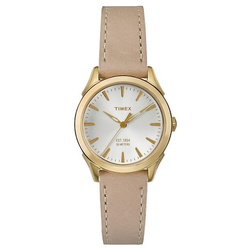Women's Timex Watch with Leather Strap - Gold/Tan TW2P82000JT - image 1 of 1