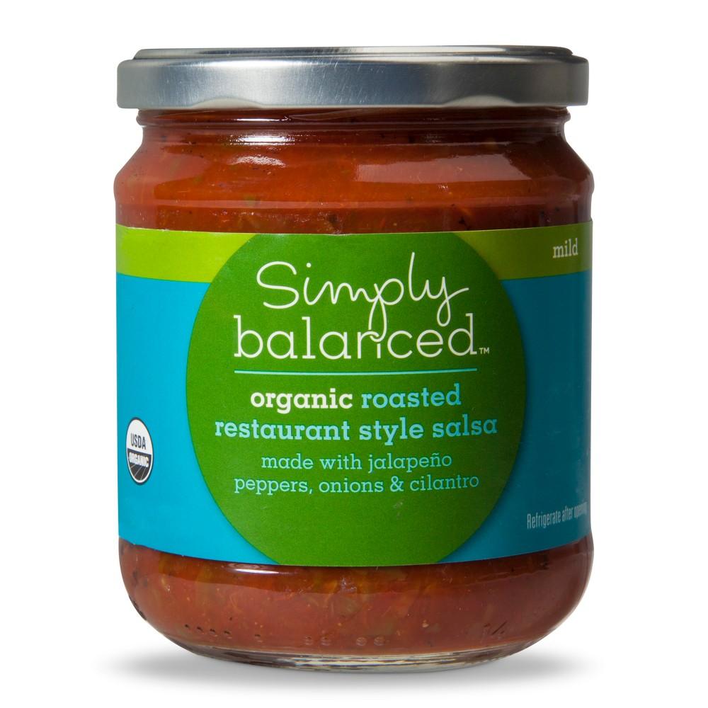Organic Roasted Restaurant Style Salsa Mild - 16oz - Simply Balanced