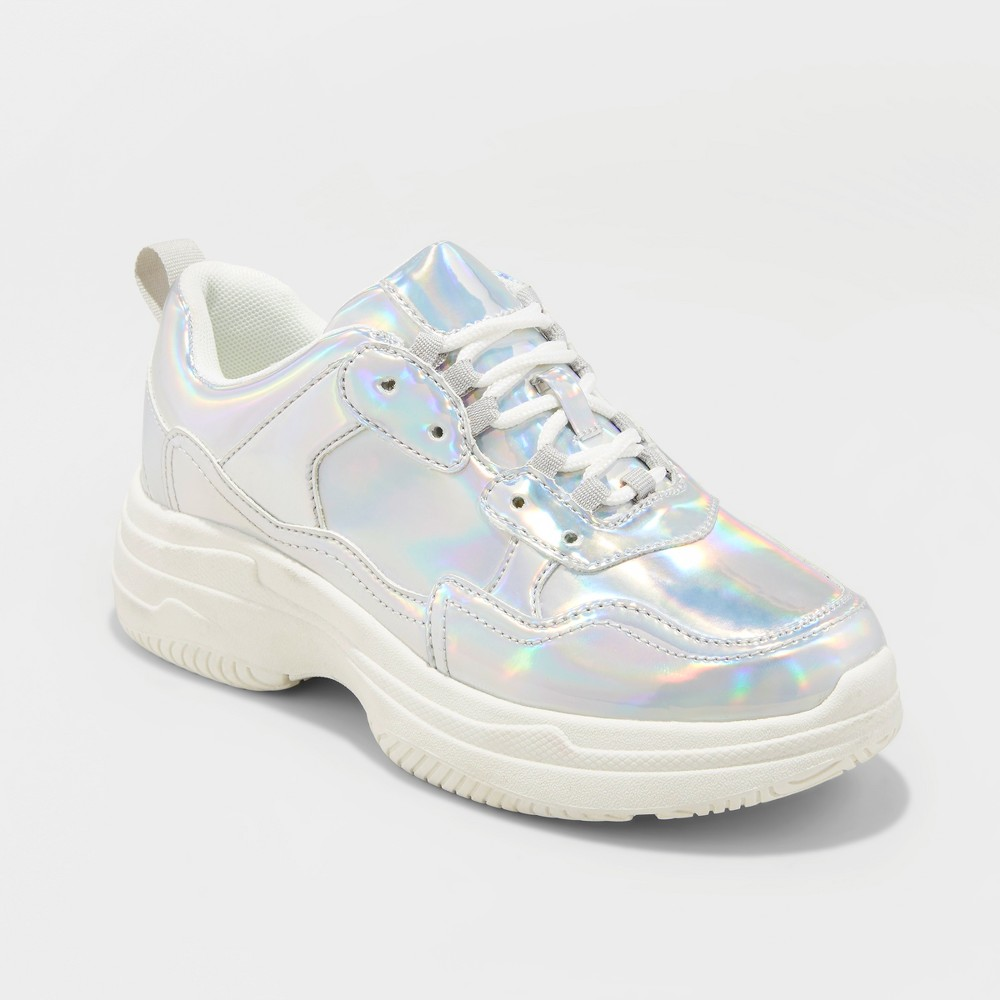 Women's Maybelle Bulky Sneakers - Wild Fable Silver 7