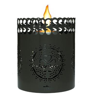 6  Clean Burn Flameshield Tabletop Torch Lantern Gunmetal - TIKI