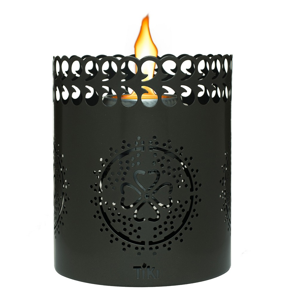 6 Clean Burn Flameshield Tabletop Torch Lantern Gunmetal (Grey) - Tiki