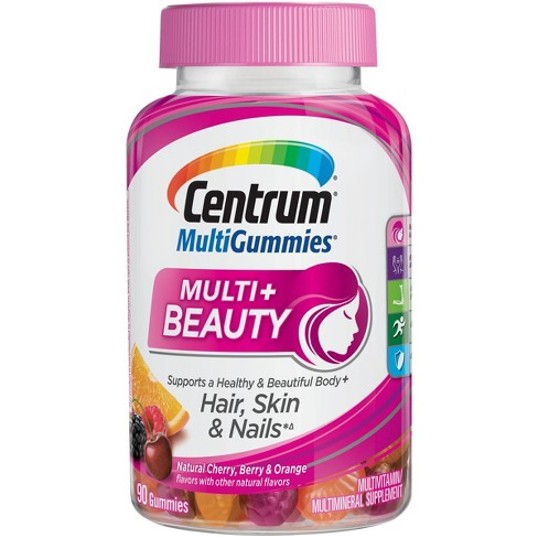 Centrum Multi+ Beauty Gummies - Natural Cherry, Berry & Orange - 90ct - image 1 of 4