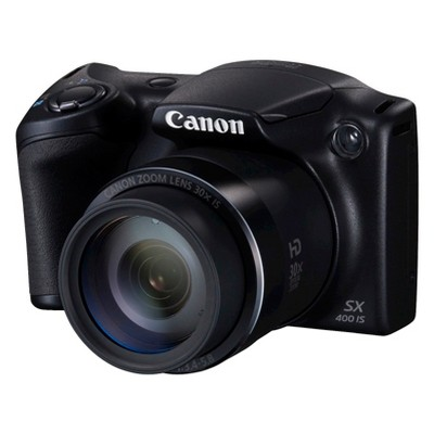 Canon PowerShot SX400 IS 16.0 MP Digital Camera with 30x Optical Zoom - Black (9545B001)
