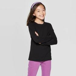 Girls' Crew Neck Long Sleeve T-Shirt - Cat & Jack™ Black