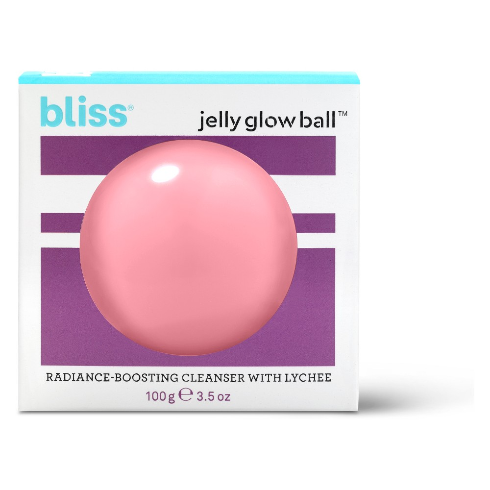 Bliss Jelly Glow Ball Radiance-Boosting Cleanser with Lychee - 3.5oz