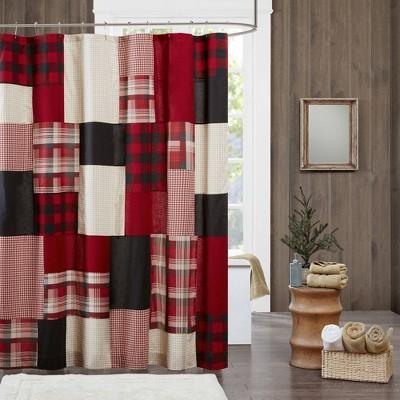 Sunset Cotton Shower Curtain Red - Woolrich