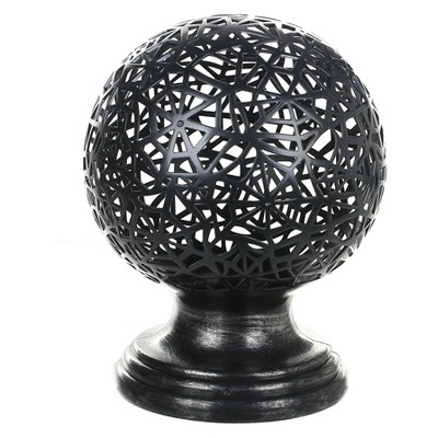 Halloween Lit Open Weave Globe with Web Design - Hyde and Eek! Boutique™