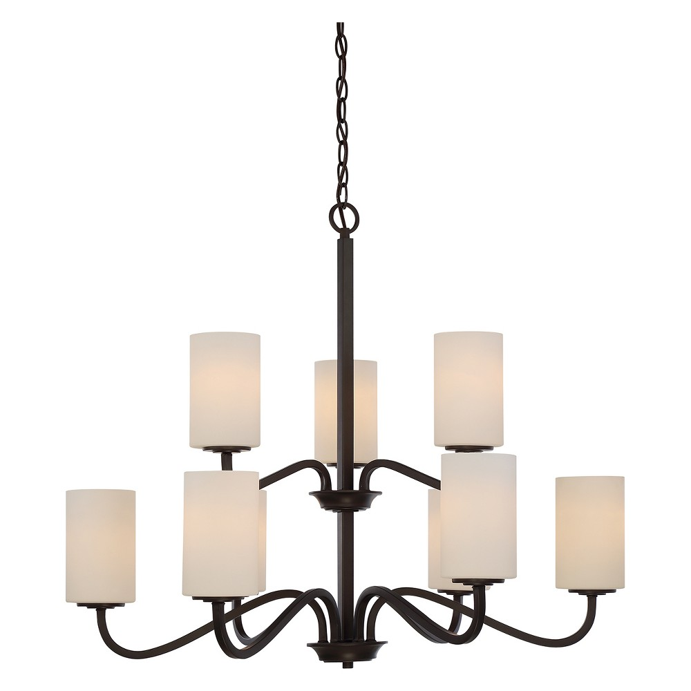 Aurora Lighting 9 Light Forest Chandelier Bronze