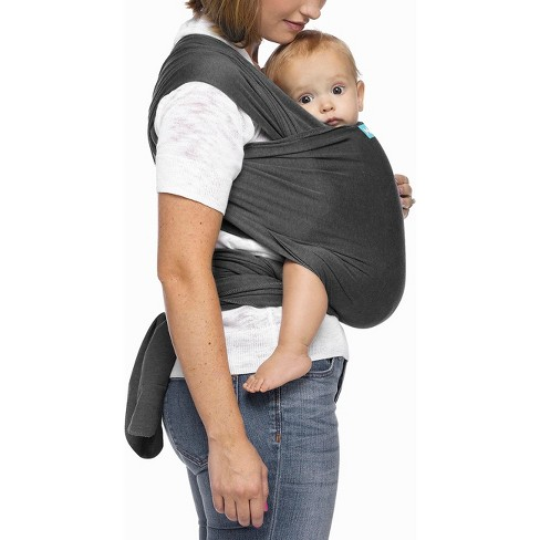 Moby Evolution Wrap Baby Carrier Charcoal Target