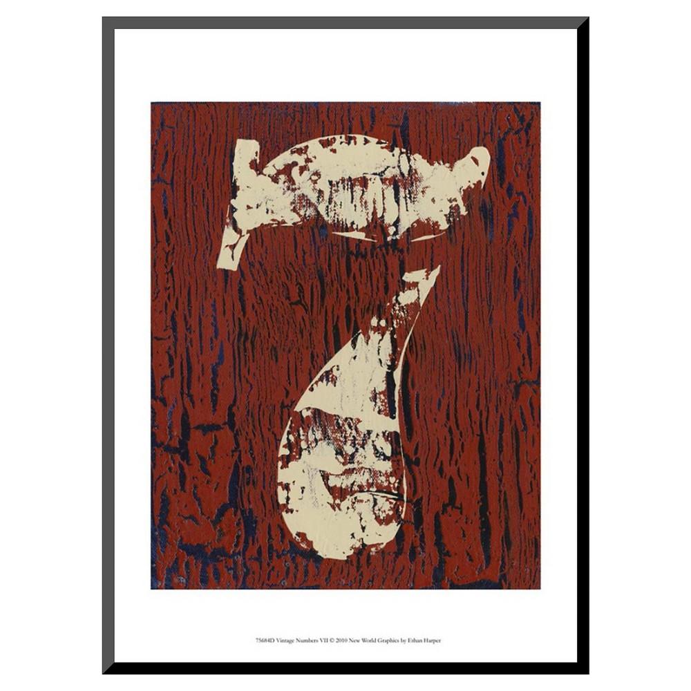 Art.com - Vintage Numbers Vii by Ethan Harper - Mounted Print, Brown