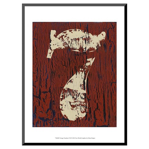 Art.com - Vintage Numbers VII by Ethan Harper - Mounted Print - image 1 of 1