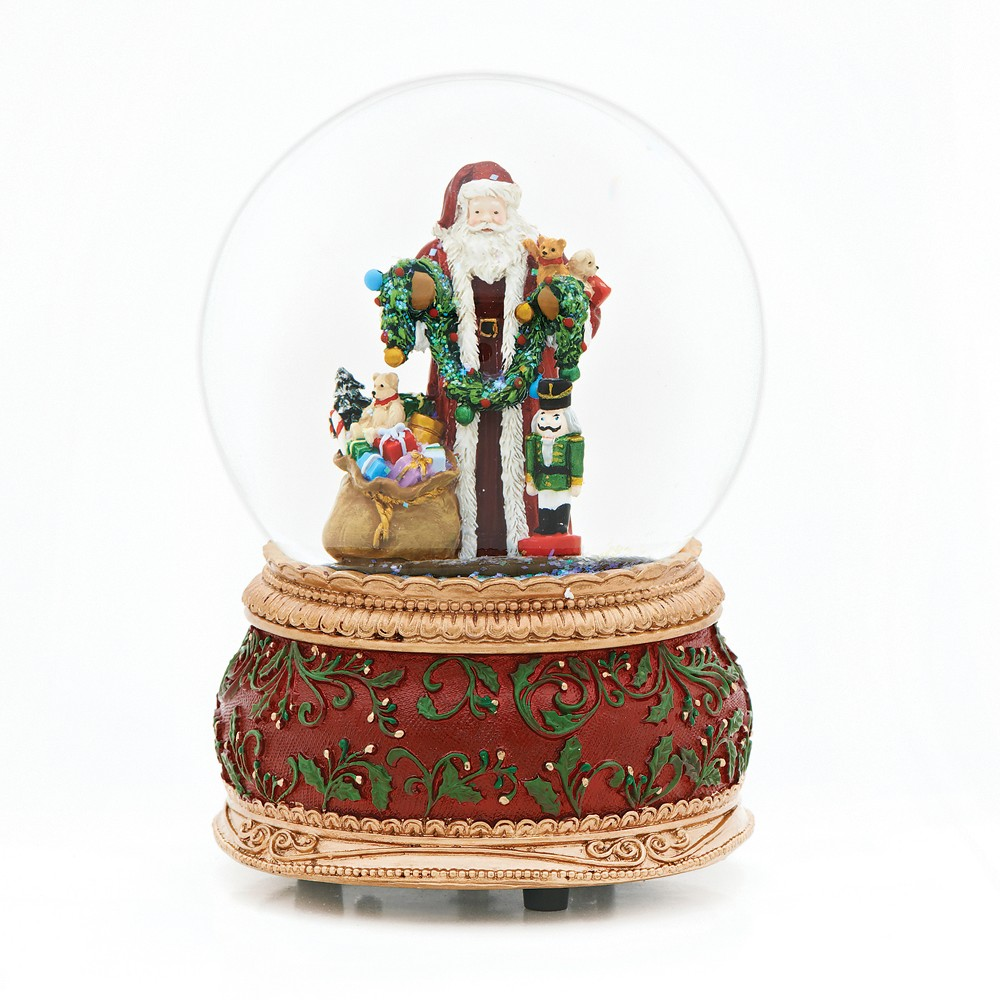 6 Santa with Toys Musical Water Globe - Roman, Multi-Colored