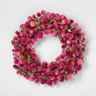 21.2  Dried Thistle Wreath Pink - Smith & Hawken™