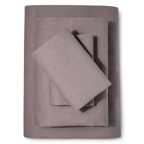 Washed Linen Cotton Blend Sheet Set Loft New York