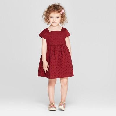Toddler Girls' A-Line Dress - Genuine Kids® from OshKosh Bing Cherry 12M