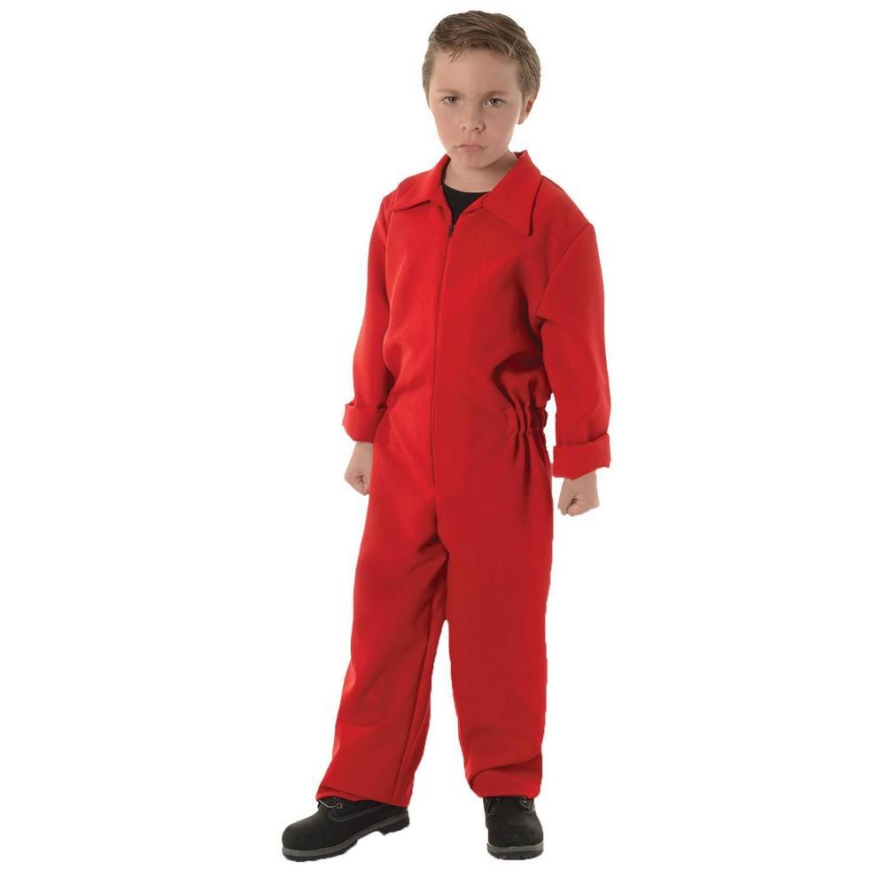 Kids 39 Boiler Suit Red Halloween Costume L 10 12