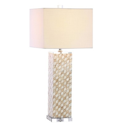 Crystal Daniel Table Lamp (Includes LED Light Bulb) Beige - JONATHAN Y