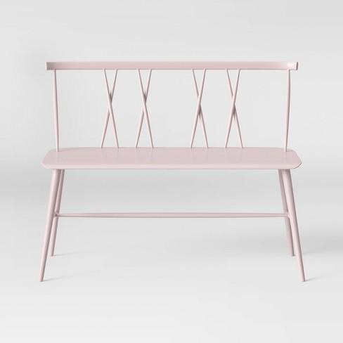 Remarkable Becket Metal X Back Dining Bench Blush Project 62 Forskolin Free Trial Chair Design Images Forskolin Free Trialorg