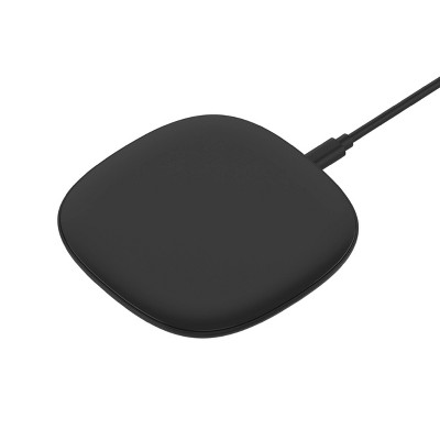 Just Wireless 10W Qi Wireless Charging Pad with 4ft TPU Charging Cable - Black