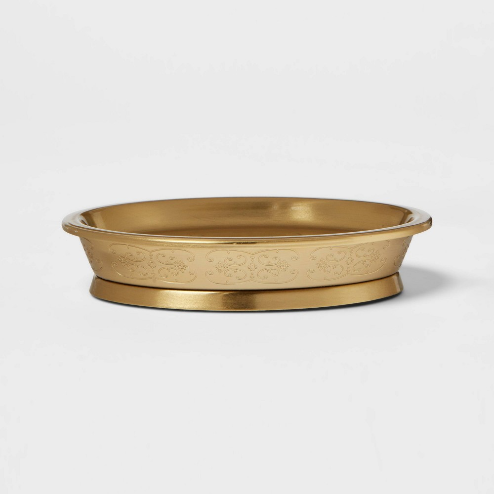 Gold Etched Metal Soap Dish Opalhouse 8482