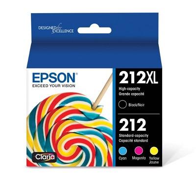 Epson 212XL Black C/M/Y Combo Pack Ink Cartridges (T212XL-BCS)