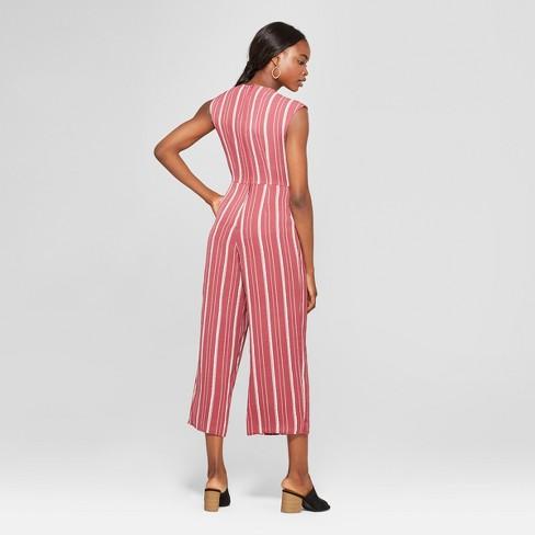 f24f3fdeacd Women s Striped Wrap Jumpsuit - Lots of Love by Speechless (Juniors ) Wine