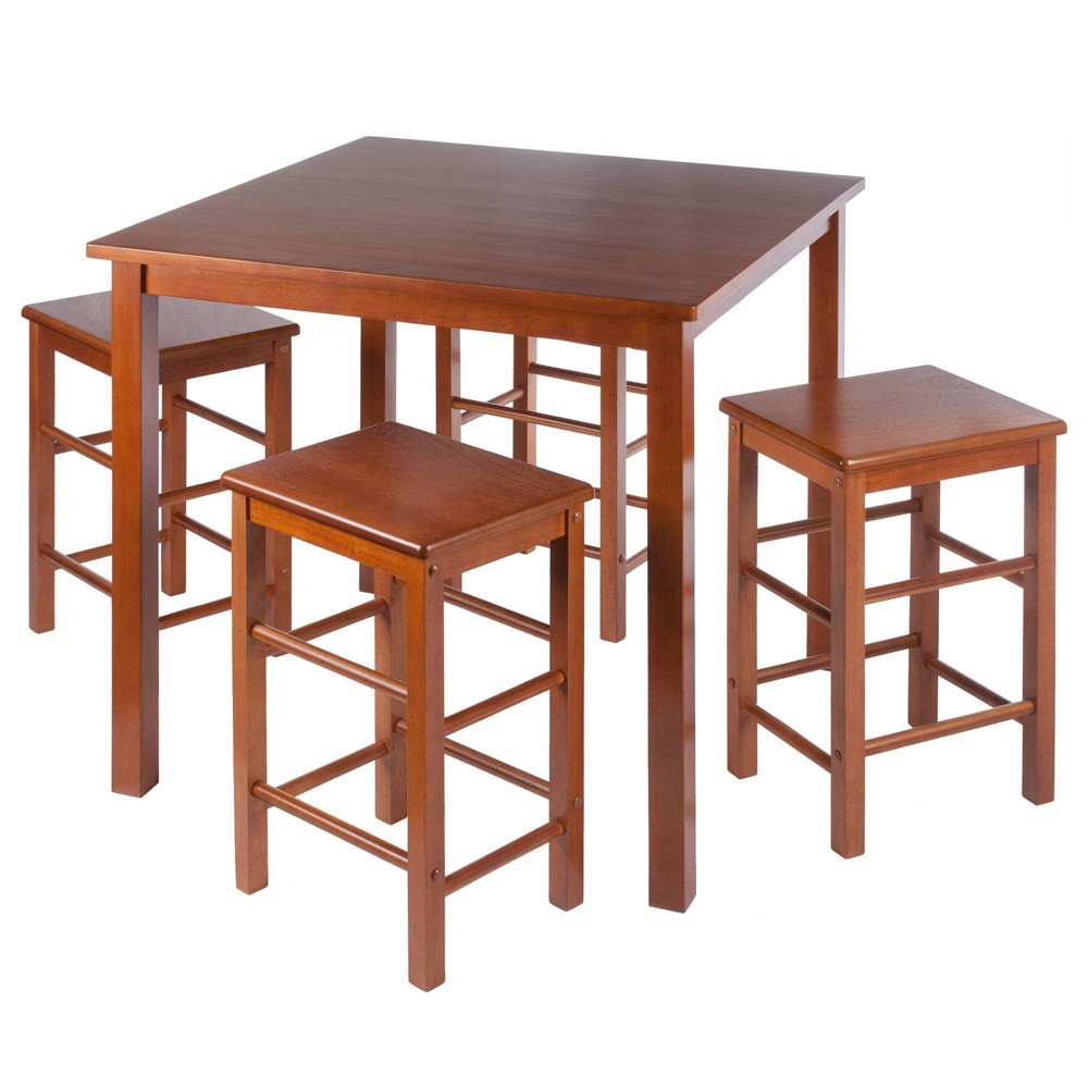 Image of 5pc Stella Space Saver Teak - Winsome, Brown
