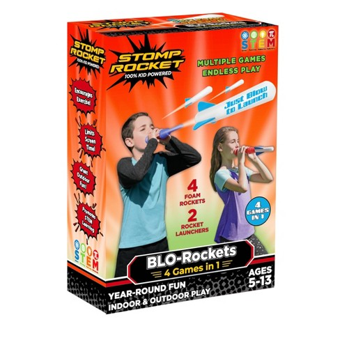 Stomp Rocket BLO Rockets Includes 2 Launchers and 4 Rockets - image 1 of 1