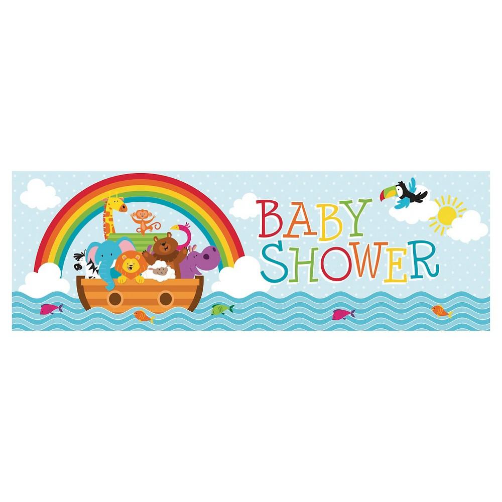 Noah's Ark Baby Shower Banner, each