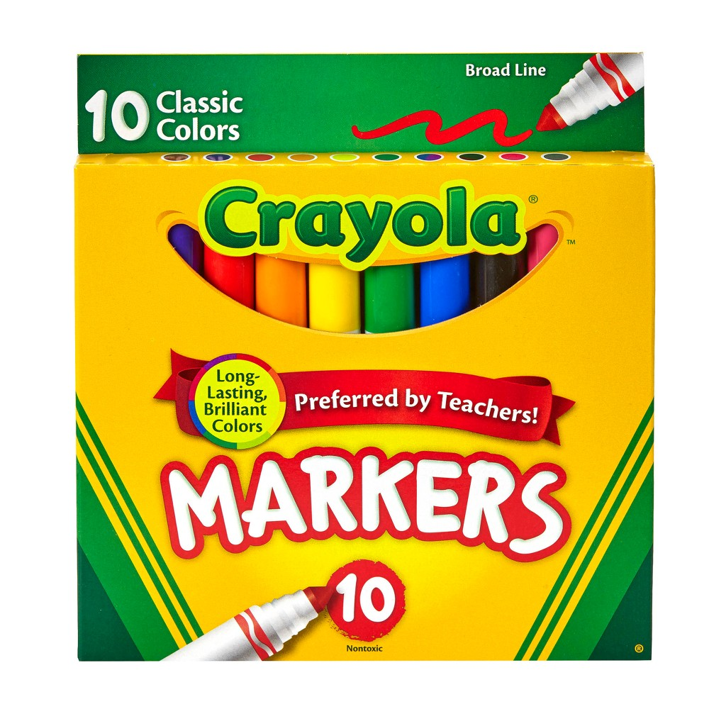 Crayola Markers Broad Line 10ct Classic was $2.39 now $0.99 (59.0% off)