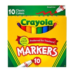 Crayola Markers Broad Line 10ct Classic