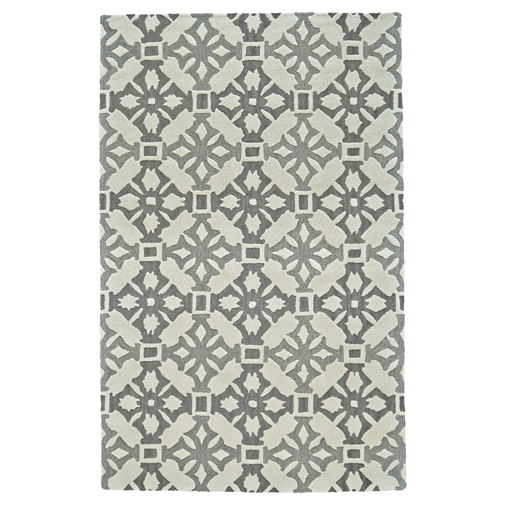 5'X8' Mosaic Design Tufted Area Rugs Fog - Room Envy, Beige