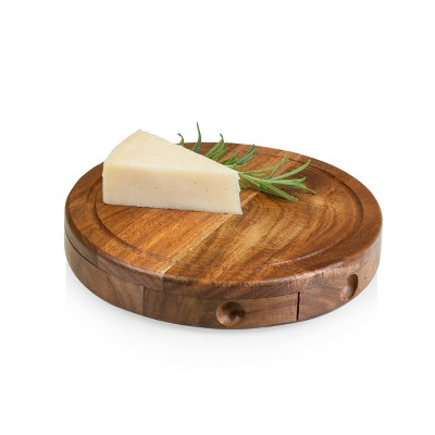 Acacia Round Cheese Board  Set - Picnic Time