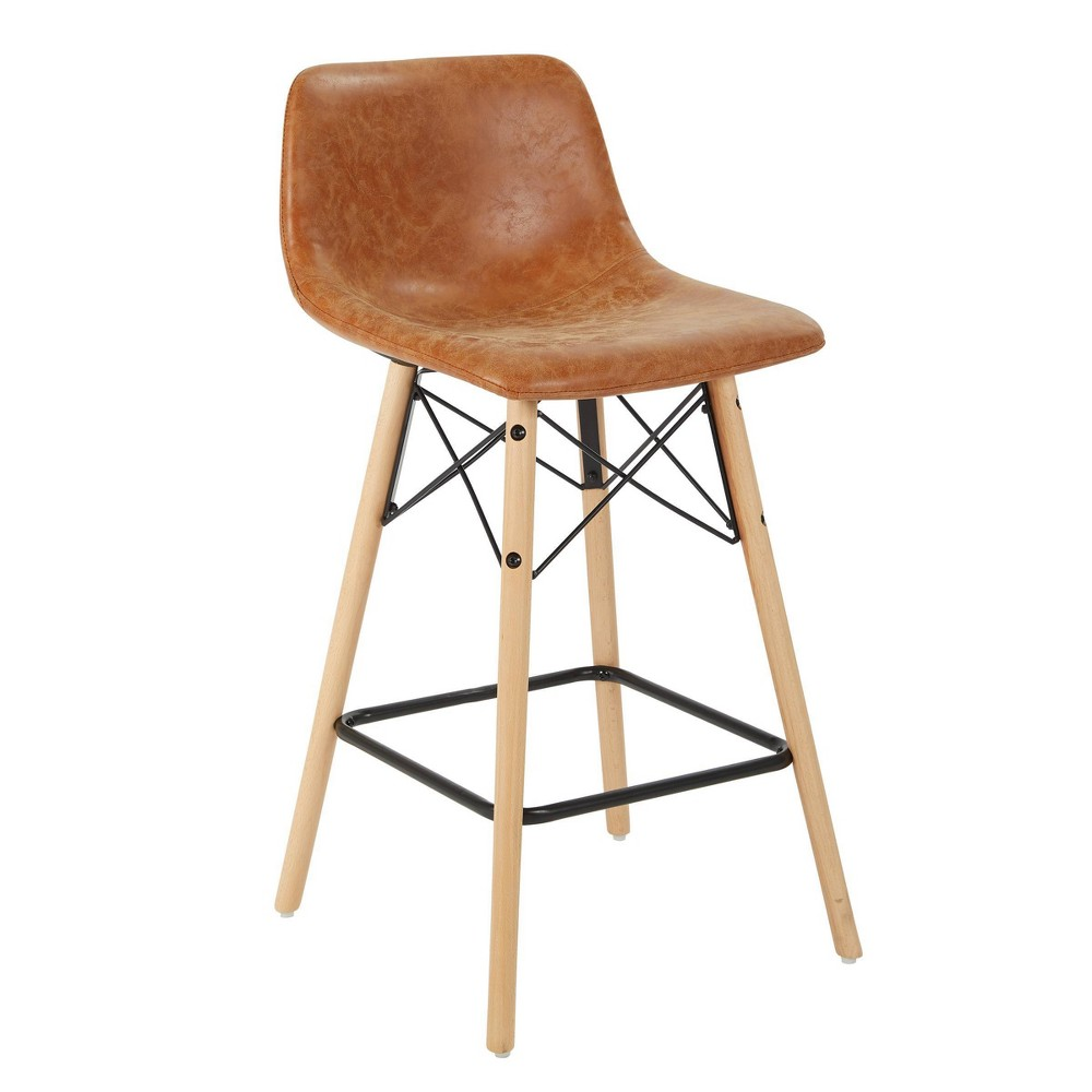 """Image of """"26"""""""" Allen Counter Stool Sand Faux Leather - OSP Home Furnishings"""""""