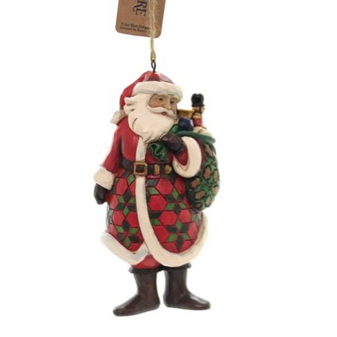 Jim Shore 4 5 Santa With Toy Bag Ornament Tree Ornaments Target