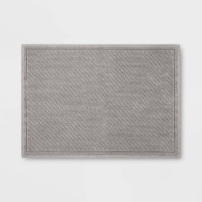 "21""x30"" Performance Solid Bath Mat Gray - Threshold™"
