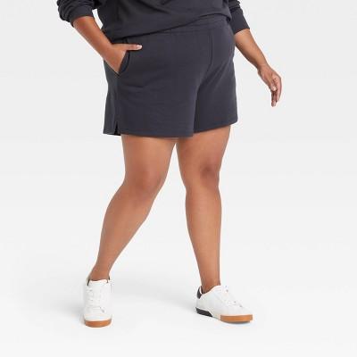 Women's Plus Size Fleece Lounge Shorts- Ava & Viv™