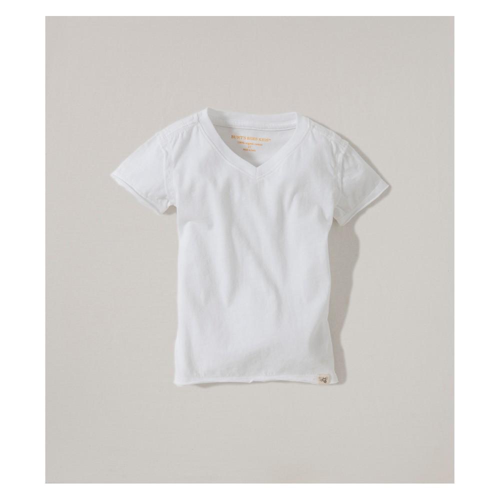Burt's Bees Baby Organic Cotton V-Neck Short sleeve T - Shirt - Cloud 18M, Infant Unisex, White