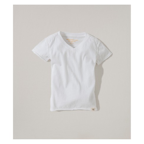 Burt's Bees Baby® Organic Cotton V-Neck Short sleeve T - Shirt - Cloud - image 1 of 2