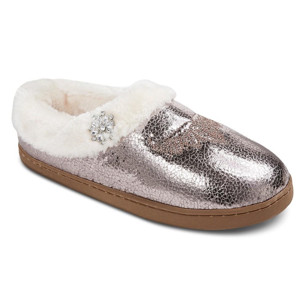 Women's Pretty You London Moccasin Slippers - Silver L(9-10)