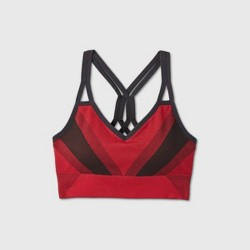 Women's Medium Support Seamless Ribbed Sports Bra - All in Motion™