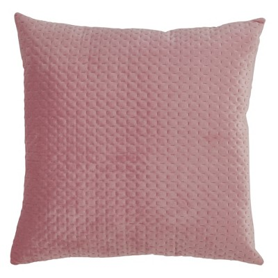 Poly Filled Pinsonic Velvet Pillow Dusty Rose - Saro Lifestyle
