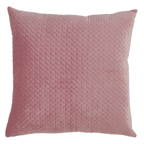 Poly Filled Pinsonic Velvet Pillow Dusty Rose - Saro Lifestyle - image 1 of 2