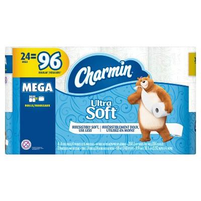 Charmin Ultra Soft Toilet Paper - 24 Mega Rolls