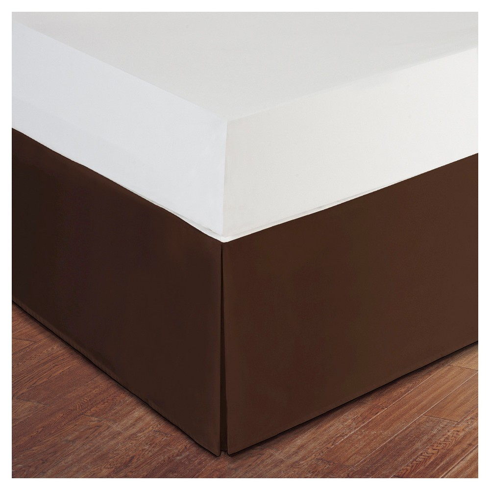 Image of Chocolate (Brown) Tailored Microfiber 14 Bed Skirt (Full)